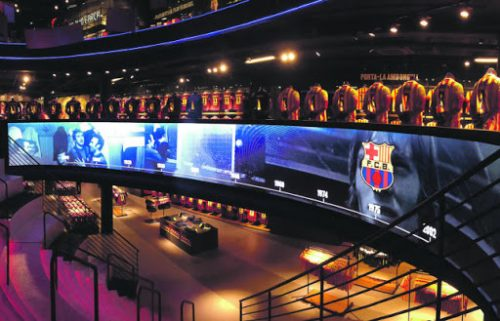 Store FC Barcelona diseñada por Led Dream